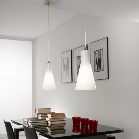 Suspension design double diana lampe suspendue for Suspension luminaire triple