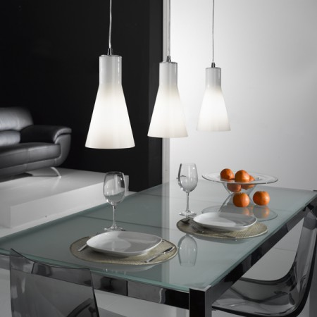 Suspension design triple diana lampe suspendue for Suspension triple pour cuisine