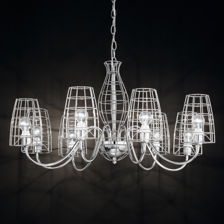 Suspension design chandelier tweed