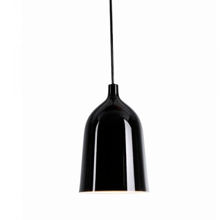 Suspension design bottle noir supension luminaire design for Suspension design noir