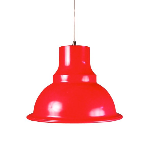 Suspension design loft rouge supension luminaire design for Luminaire suspension rouge