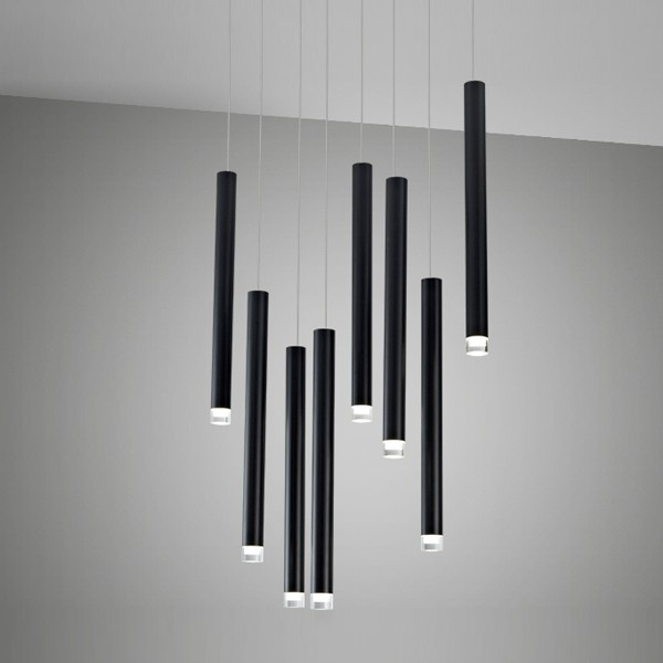 suspension led design shooting noir supension led. Black Bedroom Furniture Sets. Home Design Ideas